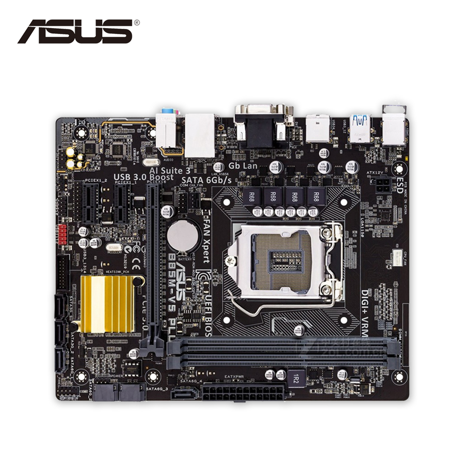 Original Used Asus B85M-V5 PLUS Desktop Motherboard B85 Socket LGA 1150 i7 i5 i3 DDR3 16G SATA3 Micro-ATX 100% Fully Test asus h87 plus deluxe board 1150 b85 motherboard