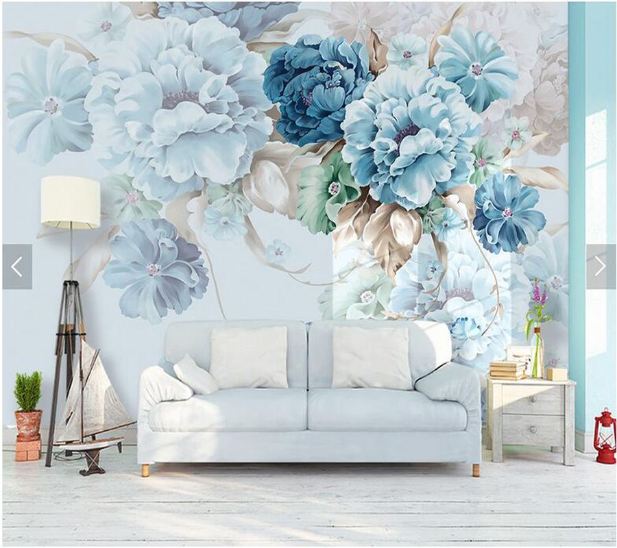 Custom floral wallpaper, simple peony murals for living room bedroom sofa TV background wall decorative wallpaper fresh lily living room sofa tv background wallpaper bedroom fabric wall paper murals large 3d stereoscopic personalized custom