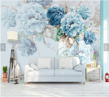 цена на Custom floral wallpaper, simple peony murals for living room bedroom sofa TV background wall decorative wallpaper