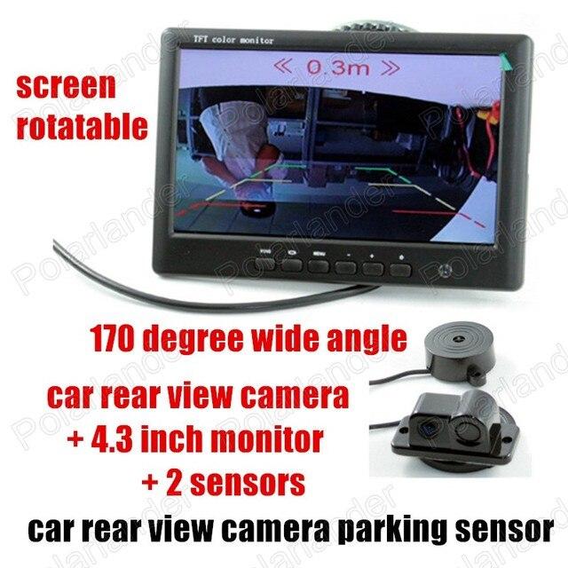 Car Video Parking Camera Sensor reversing radar camera Rear Camera with 1 Sensor Indicator Car Reverse Radar 4.3 inch monitor