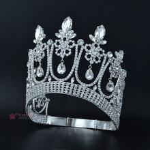 Crowns Tiaras Rhinestone Crystal Beauty Pageant Contest Crown Weddings Events Bridal Hair Accessories Dangle Drop Mo032 cheap Copper CN(Origin) Classic Fashion Hairwear Water Drop Women