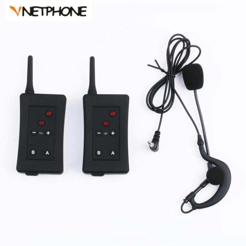 2PC Vnetphone FBIM 1200M Full-duplex Bluetooth Football Referees Headset Wireless Full Duplex Referee BT Interphones Earphone+FM