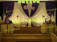 10ft*20ftm Wedding props, final goods for wedding backdrop,Gauze curtain decoration