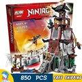850 шт. 2016 Бела Ninja 10528 Маяк Осады Строительные Блоки Комплект Детские Игрушки, Совместимые С Lego