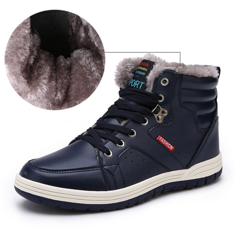 2017 running shoes for men winter cotton shoes high to help cashmere sports shoes outdoor warm sneakers shoes Large size 39-48