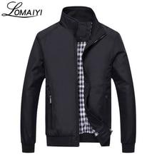 LOMAIYI плюс Размеры осень Повседневное Для мужчин куртка Для мужчин 2017 Весна Бизнес пальто Для мужчин s тонкий ветровка мужской черный куртки-бомберы, BM042