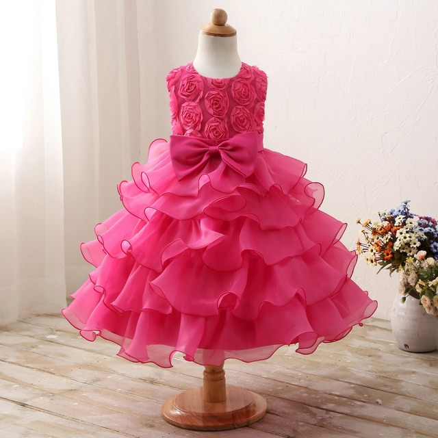 6 colors in stock sleeveless dress kids girls dresses wedding dress childrens christmas dress party
