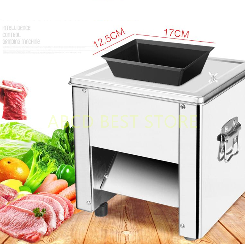 18 Commercial Meat Slicer Stainless steel Meat slice machine 150kg/h Slicing machine 850W Meat vegetable sausage potato Cutter цена