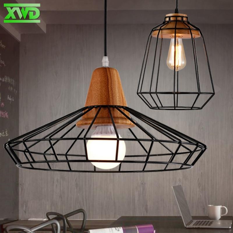 Lámpara colgante de interior de madera de hierro de la vendimia Bar - Iluminación interior - foto 2