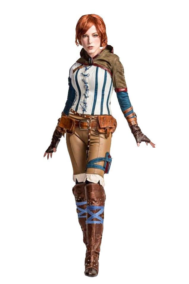 Ведьмак 3 Дикая Охота Трисс костюм игры Хэллоуин косплей костюмы для женщин