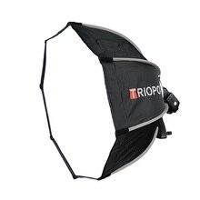 TRIOPO paraguas octagonal portátil para exteriores, 65cm, para YongNuo YN560 III IV TR 988 Godox V860II TT600 Flash Speedlite Soft Bo