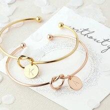 Подарок для подружки, браслет с буквами, подарок на день Святого Валентина, подарок подружки невесты, свадебный сувенир, вечерние подарки