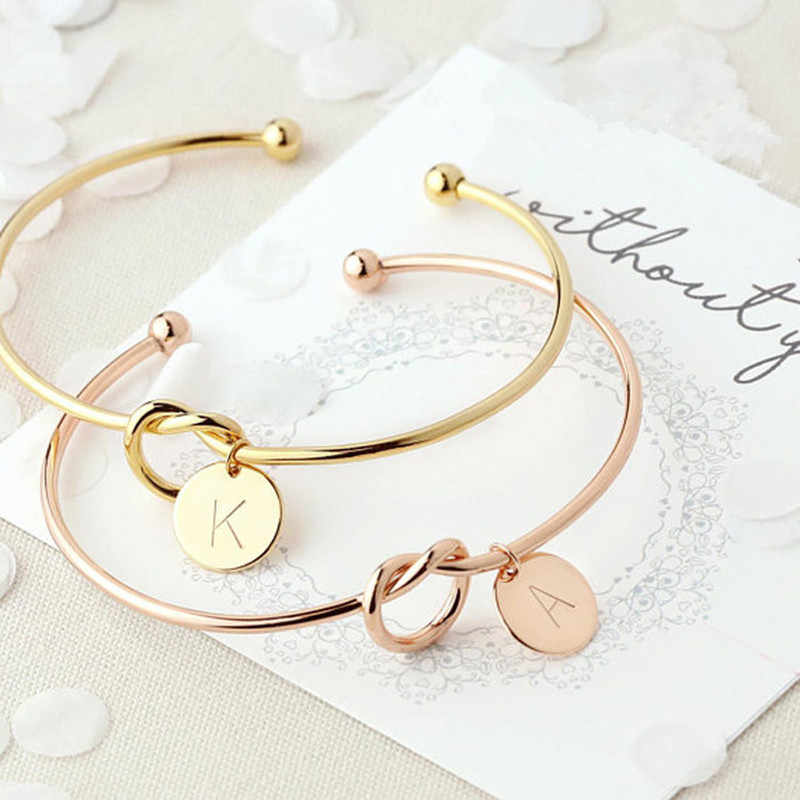 Подарок для девушки браслет с инициалами День Святого Валентина подарок для невесты Свадебные сувениры Вечерние