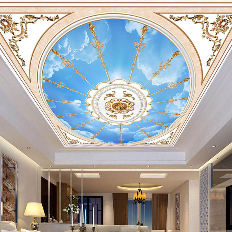 Custom 3D Mural Wallpaper European Style Living Room Bedroom Ceiling Background Wall Murals Wallpaper Wall Covering Home Decor custom 3d ceiling wallpaper beautiful sky maple murals for the living room bedroom ceiling wall waterproof wallpaper