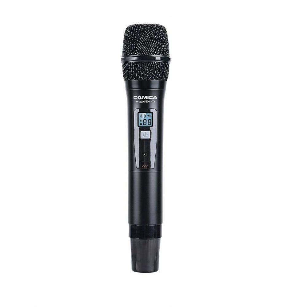 Comica CVM-WM200 300HTX UHF 96 Channel Handheld Wireless Microphone Transmitter For WM300 WM200 Low Cut Filter Mode