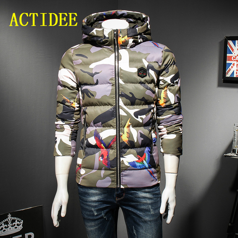 2017 New Hooded Camouflage Winter Jacket Men Outwear Thick Parkas Men Winter Coat plus size 3XL 4XL 5XL