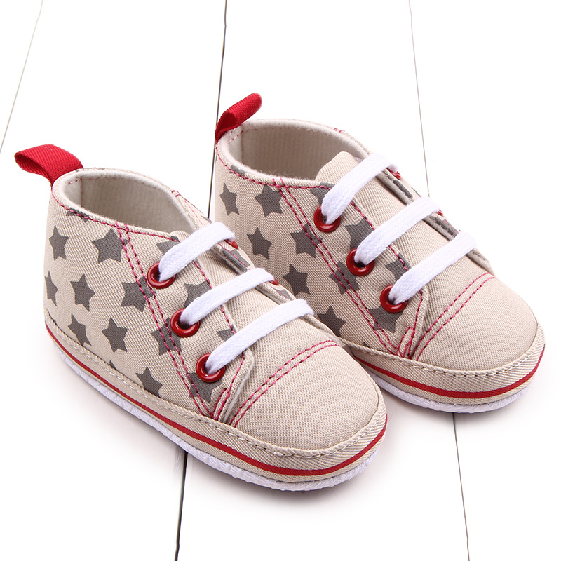 Canvas Baby Newborn Sneakers Soft Bottom Stars Toddler Infants Classic Sports Shoes First Walkers 3 Sizes