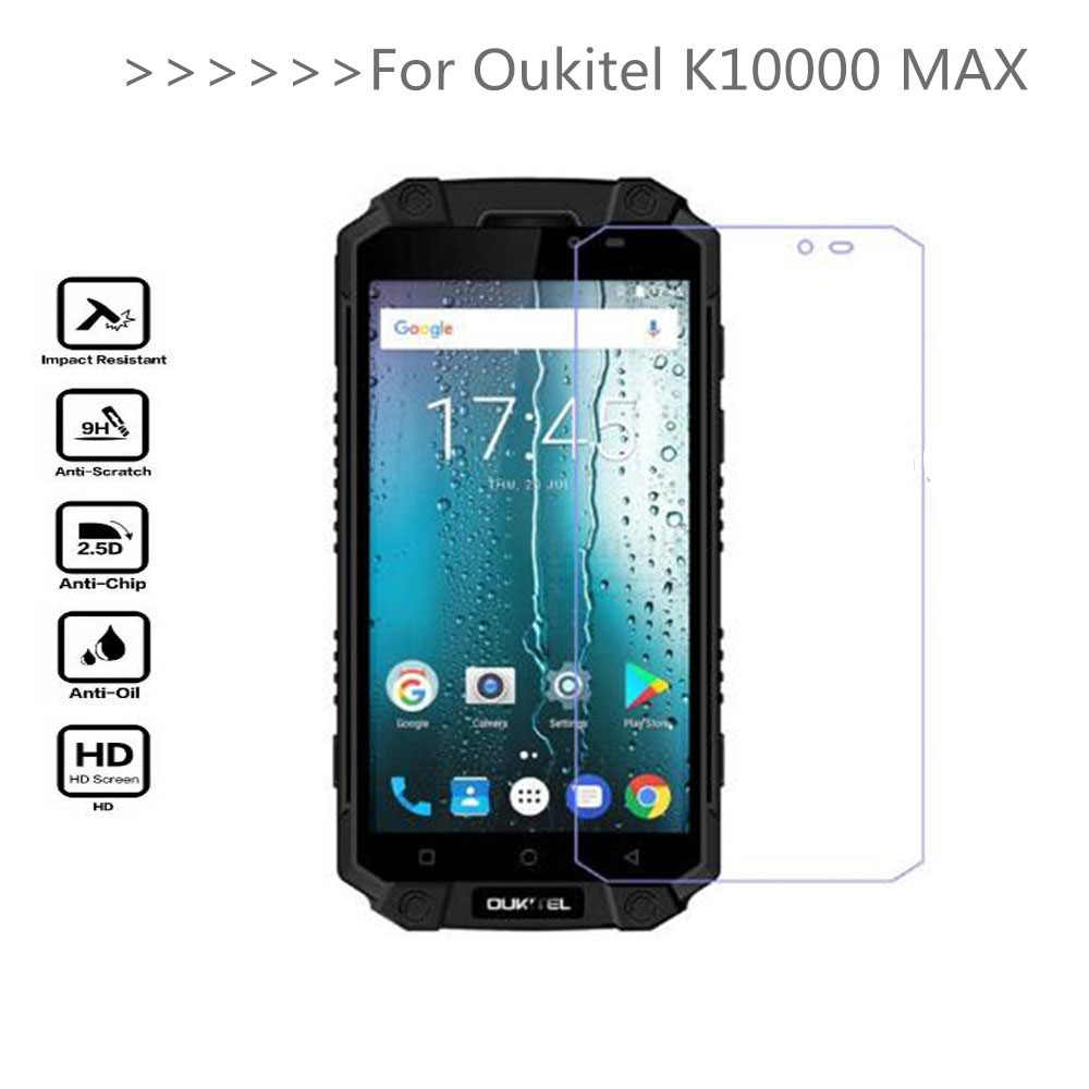 Tempered Glass For Oukitel K10000 MAX Screen Protector 9H 2.5D Phone Protection Film Protective Glass For Oukitel K10000 MAX