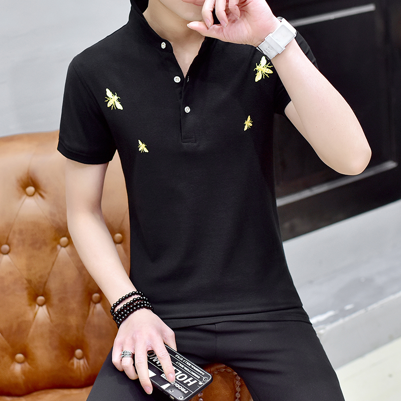 mens   polos   2018 man poloshirt plus size men clothing short sleeved lapel summer black men's   polo   shirt   polo   hombre