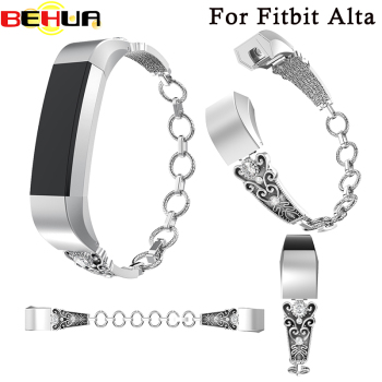 New love design Women watchband For Fitbit Alta Replacement Band with Rhinestone wrist band for fitbit Alta HR bracelet Strap new high quality genuine stainless steel watch bracelet band strap for fitbit alta hr for fitbit alta watch wrist strap bands