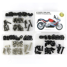 все цены на For BMW K1200RS 1996-2005 Motorcycle Complete Full Fairing Bolts Kit Fairing Clips Screws Speed Nuts Screws Steel