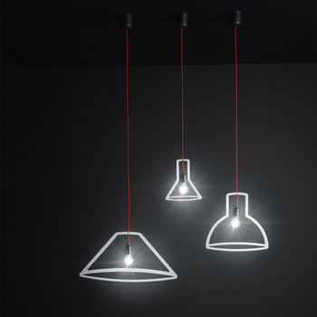 3D Geometry wine Bottle pendant lamp lights chandelier lighting led hanglamp loft decor lamps light fixtures Living room bedroom