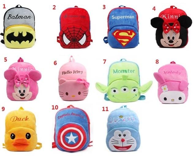 Big size 4-5 years cute kids backpack cartoon plush schoolbag Children's gifts kindergarten boy girl baby student bags Mochila