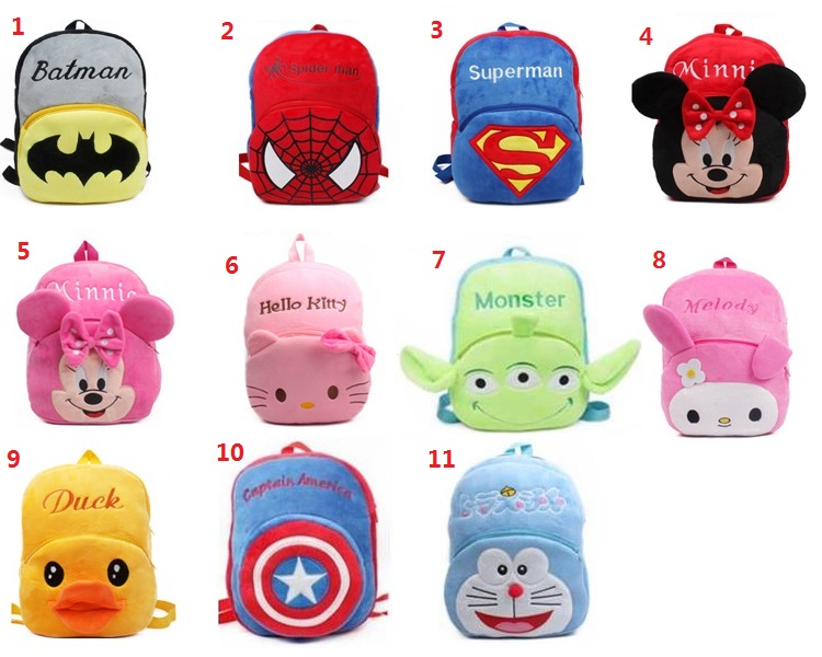 Big size cute kids backpack cartoon plush schoolbag Children s gifts kindergarten boy girl baby student