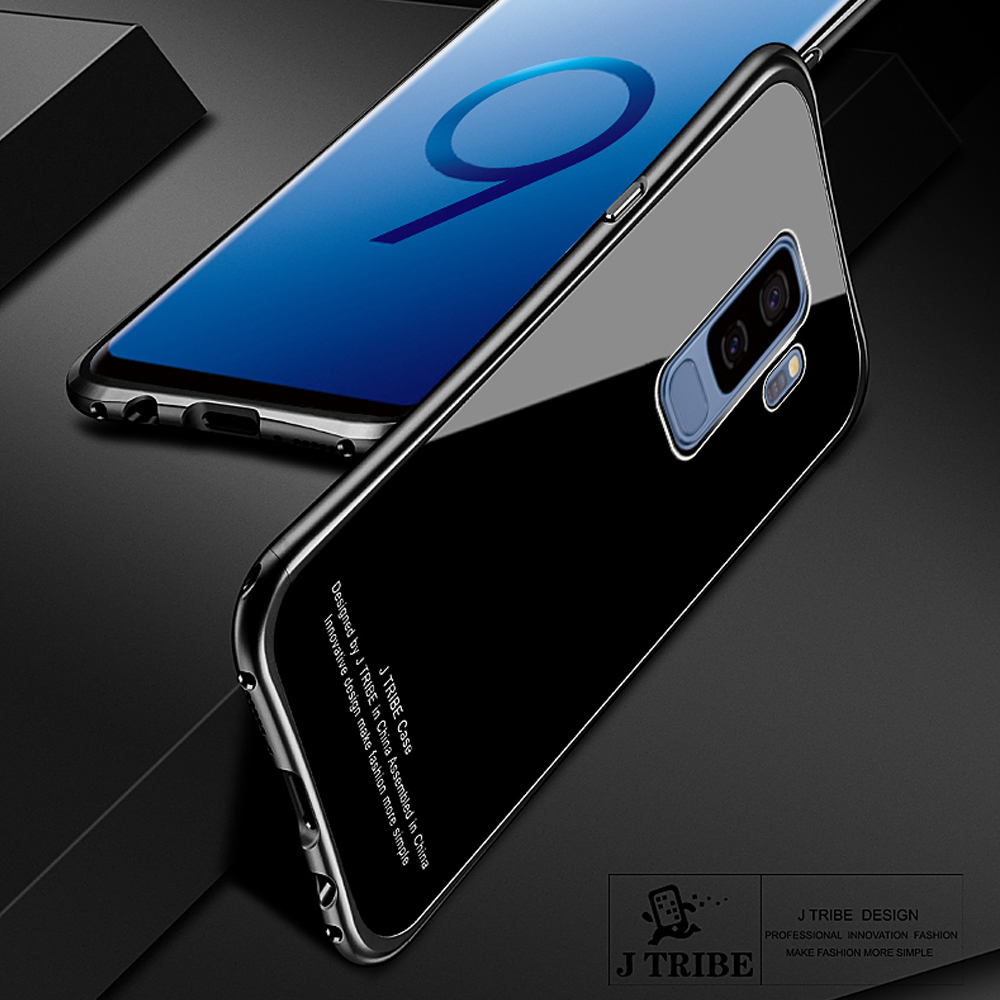2018 New For Samsung S9 Plus + Luxury Aluminum Metal Frame + Mirror PC Back Cover Cases for Galaxy S9 / Fast shipping