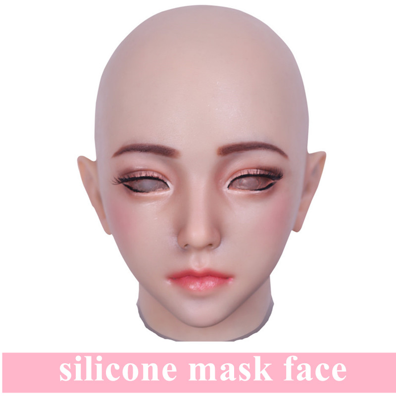 Artificial Realistic Fake Silicone Girl Face Human Skin For Crossdresser Transgender Dragqueen Masquerade Halloween Breast FormsArtificial Realistic Fake Silicone Girl Face Human Skin For Crossdresser Transgender Dragqueen Masquerade Halloween Breast Forms
