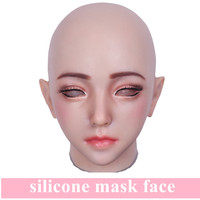 Artificial Realistic Fake Silicone Girl Face Human Skin For Crossdresser Transgender Dragqueen Masquerade Halloween Breast Forms