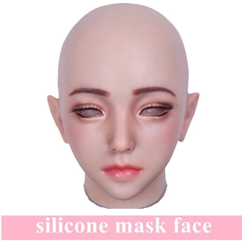 Artificielle réaliste faux Silicone fille visage peau humaine pour Crossdresser transgenre Dragqueen mascarade Halloween sein formes on AliExpress - 11.11_Double 11_Singles' Day 1