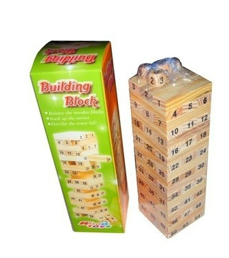 Baby Tumbling Tower Toys Jenga Board Team Game Toy Wood Building Blocks Kids Family Camping  bar game Free Shipping funny falling tumbling monkey parenting family interactive toy