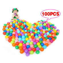 100pcs/lot Eco-Friendly Colorful Soft Plastic Water Pool Ocean Wave Ball Baby Swim Funny Toys stress air ball outdoor fun sports