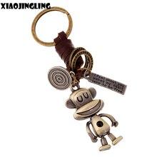 XIAOJINGLING ретро-брелок из натуральной кожи с подвеской в виде обезьяны, дизайнерский брелок, брелок для ключей, аксессуары для сумок, модные ювелирные изделия
