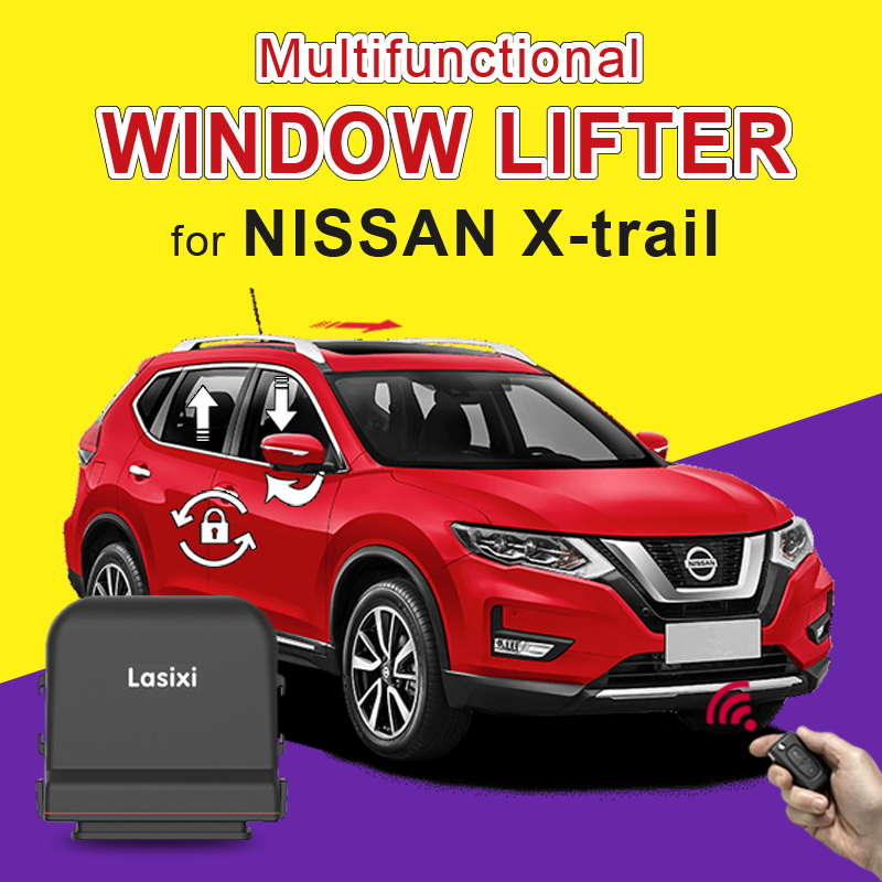 Car Auto Smart Window Closer + Folding Rear Mirror + Speed Lock + Sunroof Close Suitable For NIssan X-trail 2014-2017 2018 2019