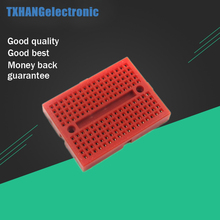 Breadboard red mini 170 Point Solderless PCB Solderless Prototype breadboard for arduino shield keyes kt0053 breadboard ceramic capacitors resistors more for arduino multicolored