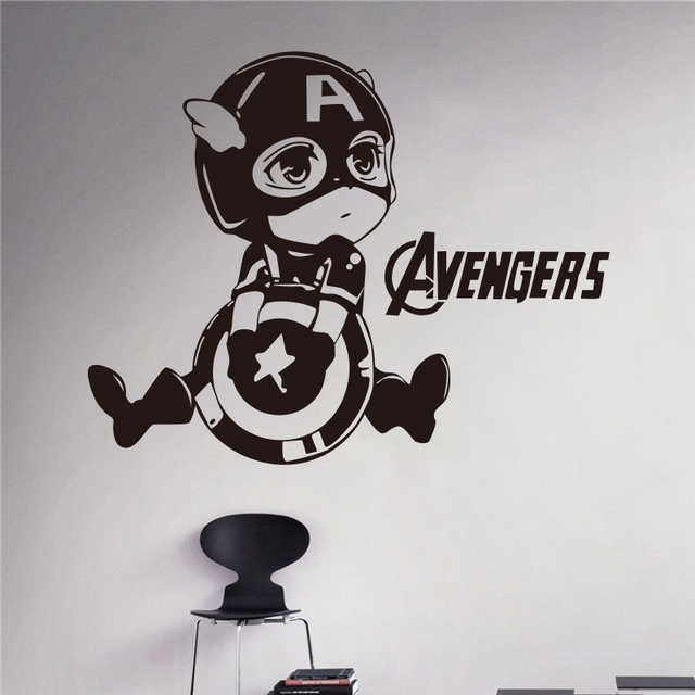 Captain America Wall Art aliexpress : buy creative diy wall art home decoration