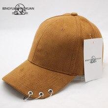 купить BINGYUANHAOXUAN Winter Autumn Thickening Suede Fabric Men Women Baseball Caps High Grade Cotton Hip Hop Cap Hats Bone Snapback   по цене 249.47 рублей