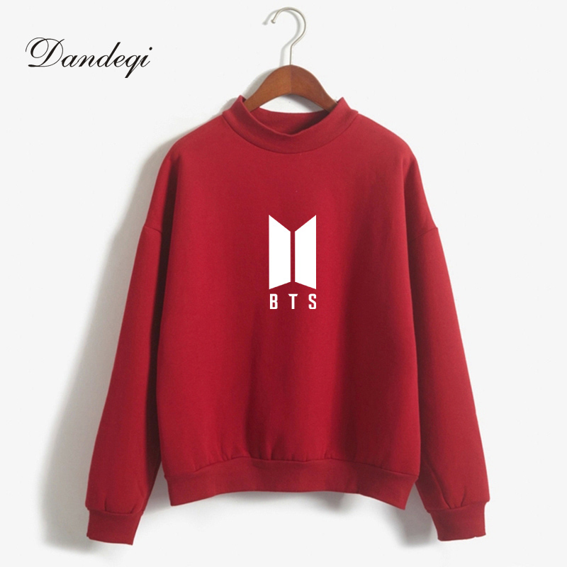 Dandeqi Kpop BTS Hoodies For Women Men Bangtan Boys Letter Printed Fans Supportive BTS Album Hoodie