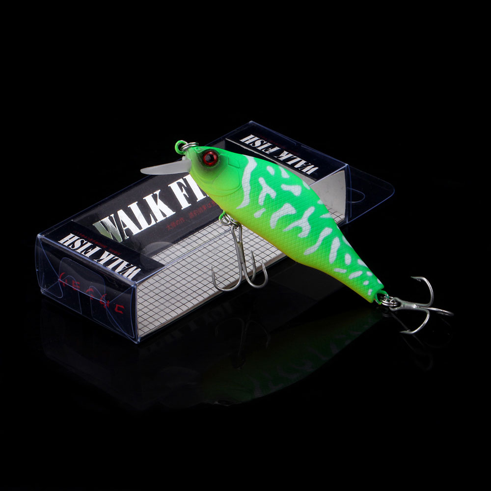 WALK FISH 1PCS Floating Minnow Fishing Lure 9.2g 75mm 3D Nature Eyes Hard Artificial Bait Wobbler Pesca Fishing Tackle allblue slugger 65sp professional 3d shad fishing lure 65mm 6 5g suspend wobbler minnow 0 5 1 2m bass pike bait fishing tackle