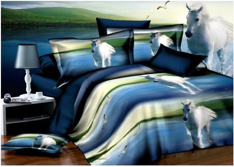 Aliexpress Com Buy Horse Design Bird Print Comforter