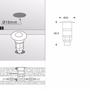 Image 5 - 10X 24 مللي متر 12 فولت الألومنيوم مقاوم للماء حديقة ساحة LED سطح السكك الحديدية درج خطوة أضواء الشرفة + WIFI تحكم باهتة الموقت + محول