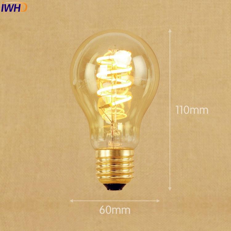 Pflichtbewusst Iwhd Neue Stil Lampada Edison Lampe Birne 220 V E27 4 W Bombillas Vintage Birne Retro Lampe Ampullen Decoratives A19 G80 G95 St65 VerrüCkter Preis