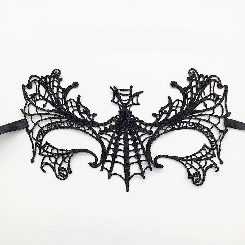 Черная Сексуальная кружевная Маскарадная маска для карнавала, Хэллоуина, маскарада на половину лица, маски для вечеринки, праздничные принадлежности для вечеринки#30 - Цвет: PM018