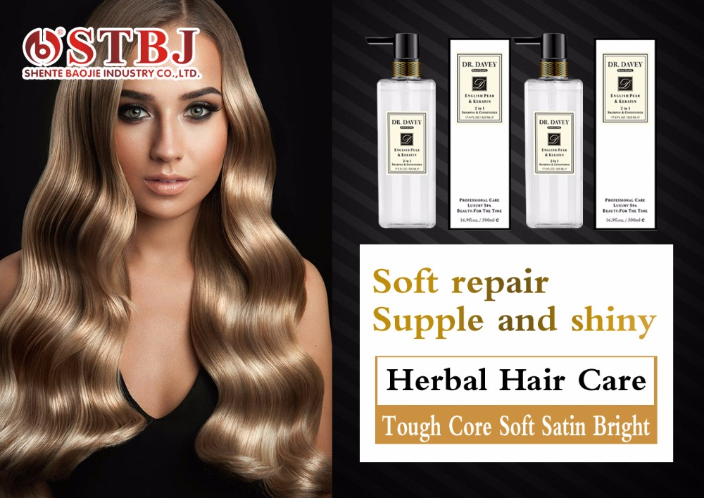 Купить с кэшбэком Dr Davey 500ml Anti Dandruff ShampoO hair soft  and shiny Herbal Hair Care 2 in 1 H Wash&Conditioner Awakening Hydra Beauty