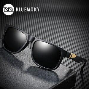 Image 1 - BLUEMOKY Square Black Sun Glasses for Men UV400 Polarized Brand Designer Sunglasses Men Driving Polaroid Shades for Men 2019
