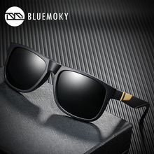 남성용 BLUEMOKY 스퀘어 블랙 선글라스 UV400 편광 된 브랜드 디자이너 선글라스 남성용 폴라로이드 쉐이드 2019