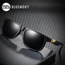 BLUEMOKY כיכר שחור משקפיים שמש לגברים UV400 מקוטב מותג מעצב משקפי שמש גברים נהיגה פולארויד גוונים לגברים 2019