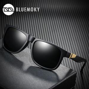 Image 1 - BLUEMOKY مربع أسود نظارات شمسية للرجال UV400 الاستقطاب العلامة التجارية مصمم النظارات الشمسية الرجال القيادة بولارويد ظلال للرجال 2019